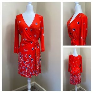 NWT The Limited floral wrap dress